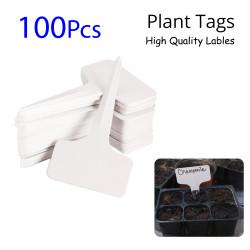 100pcs Plastic Plant Tags Markers Garden Labels