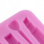 Silicone Mould Beauty Brushes Lipstick Collection Fondant Cake