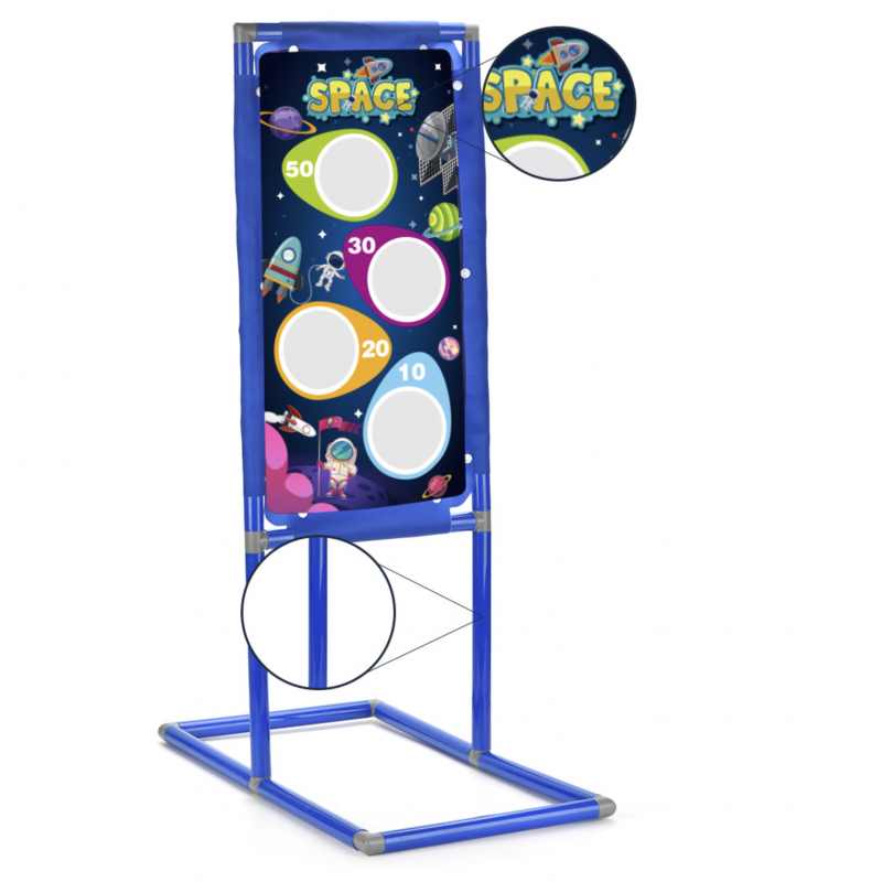 Space Adventure Kids Shooting Game Toy Target Board Rack Holder Stand