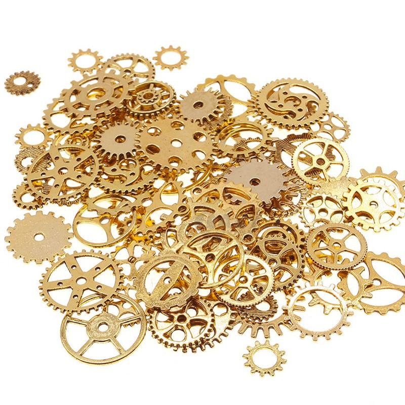 image: 100g Assorted Cogs Steampunk Gears Clock Watch Wheel Set