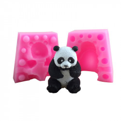 Two Piece 3D Small 4.2cm Panda Silicone Mould