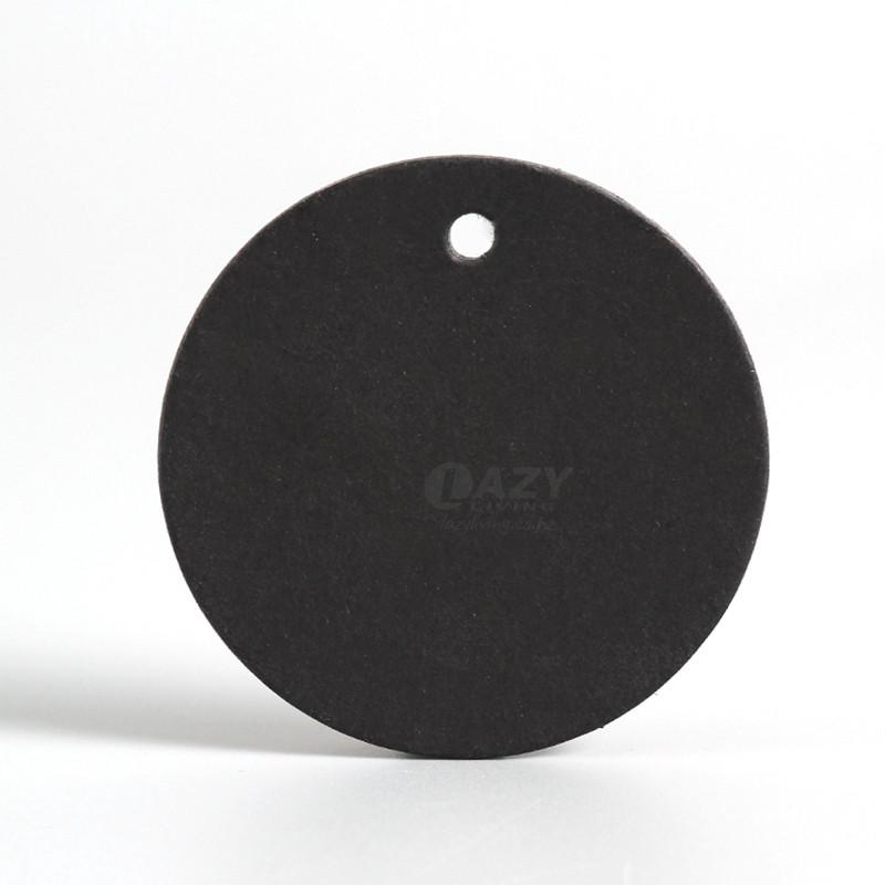 image:100pcs Black Round Kraft Paper Card Tags Craft Tag Cards 4cm