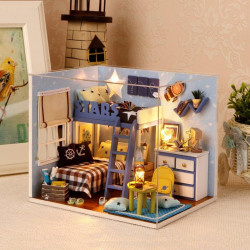 1:32Dollhouse DIY Kit Light With Cover Starry Sky Adventure Stand Joint Model