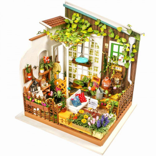 DG108 DIY Doll House Miniature With Furniture Wooden Dollhouse Toy Decor Craft Gift